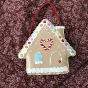 Gymboree gingerbread house purse